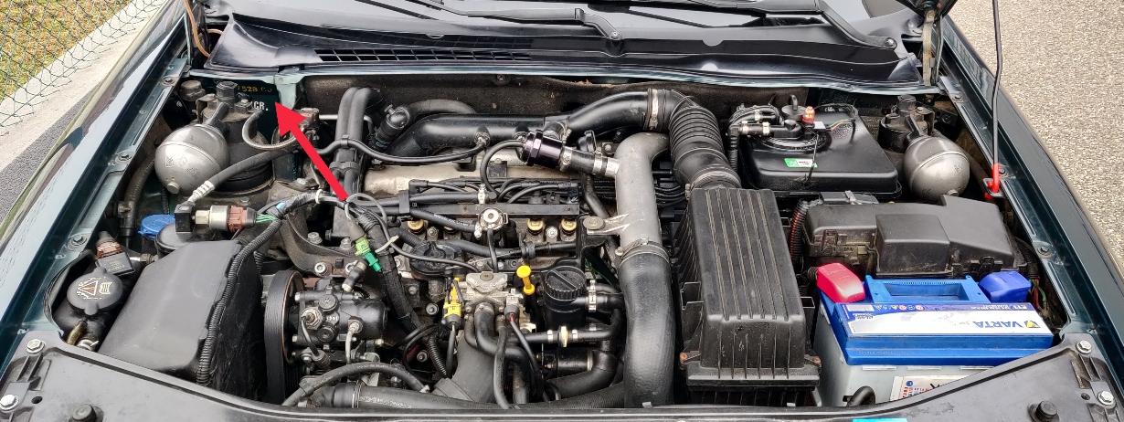 Emplacement OPR Phase 1 - Vue compartiment moteur