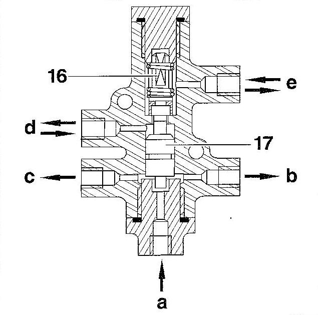 Clapet pour véhicules équipés de l'hydractive (avant)